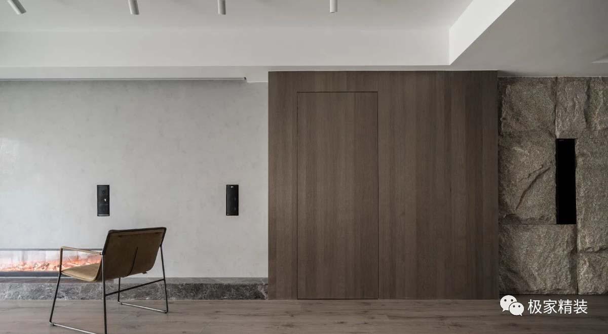 极简风格客厅实景效果图
