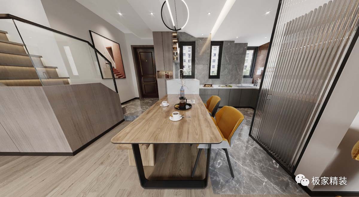 两室两厅房子设计图_[实景案例]130㎡三室两厅两卫装修效果图_极家精装