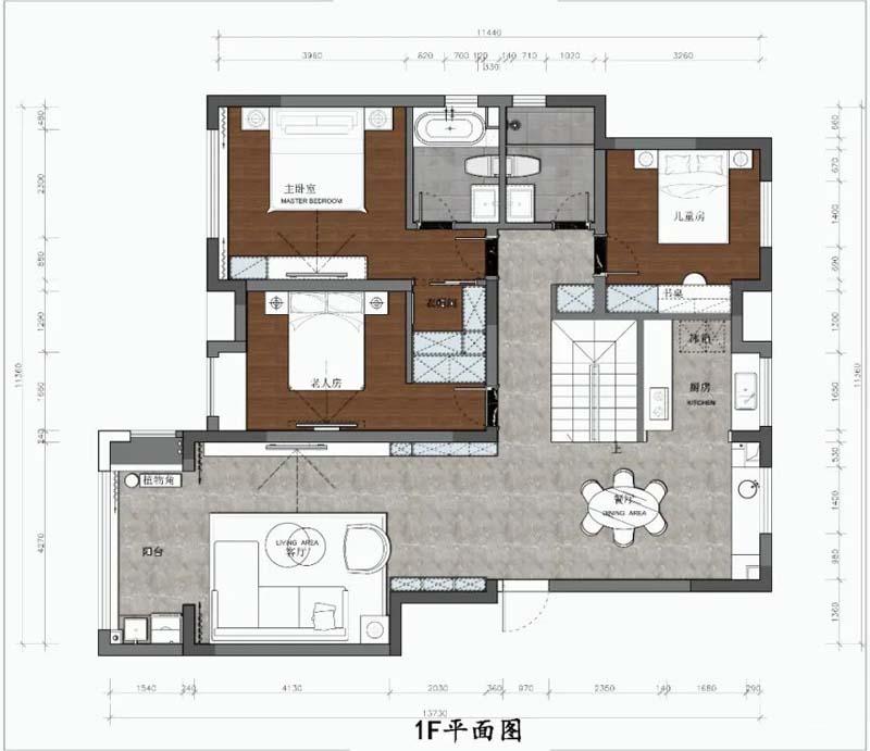 复式楼一楼平面设计图