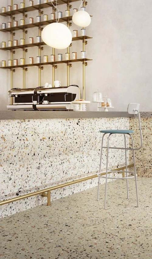 家用水磨石吧台装修效果图