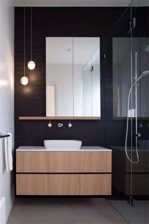 壁挂式浴室柜实景效果图
